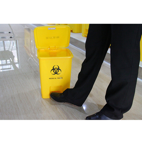 Rectangular Step-On Medical Trash With Lid Image 12