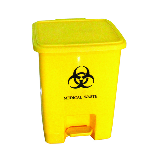 Rectangular Step-On Medical Trash With Lid Image 1