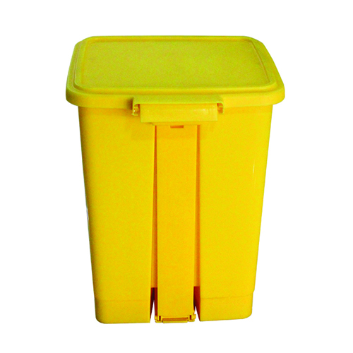 Rectangular Step-On Medical Trash With Lid Image 2