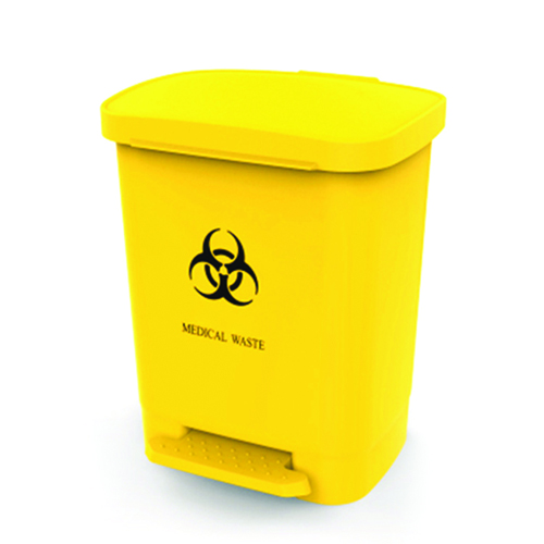 Rectangular Step-On Medical Trash With Lid Image 3