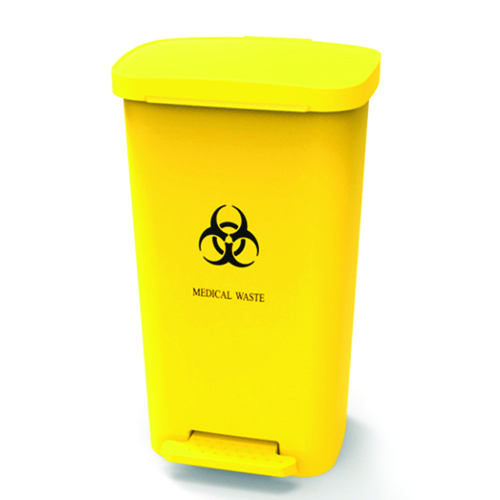 Rectangular Step-On Medical Trash With Lid Image 4