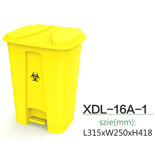 Rectangular Step-On Medical Trash With Lid Image 6