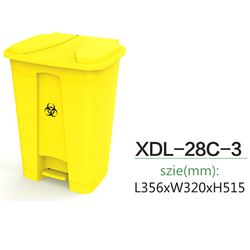 Rectangular Step-On Medical Trash With Lid