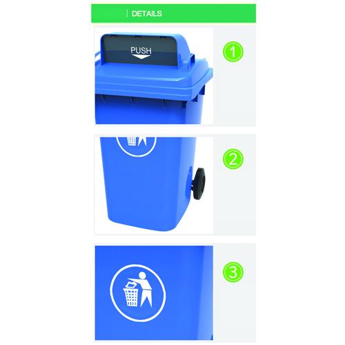 Dozze 360L Wheelie Waste Bin Image 10