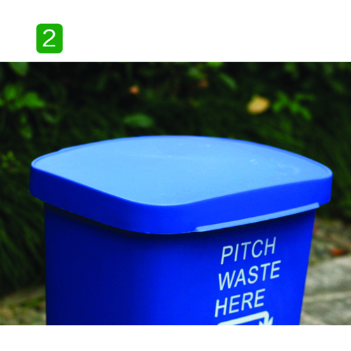 Wheeze Foot Pedal Garbage Bin Image 9