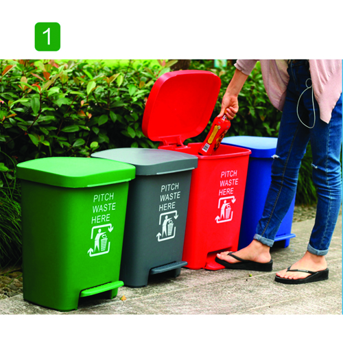 Wheeze Foot Pedal Garbage Bin Image 8