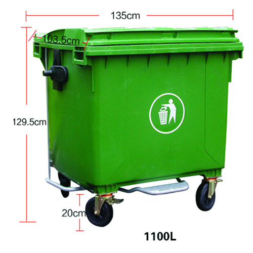 Lama Four Wheels Garbage Container