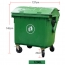 Lama Four Wheels Garbage Container Image 19