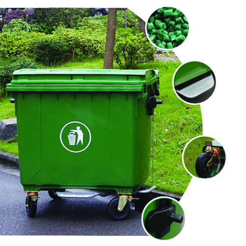 Lama Four Wheels Garbage Container Image 8