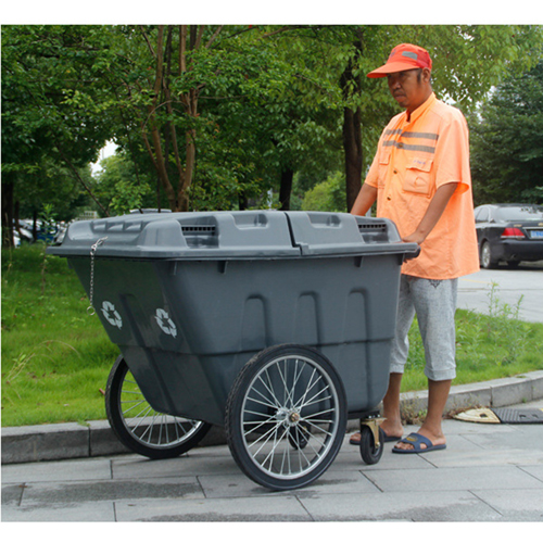 Outdoor Four Wheel Garbage Cart Image 16