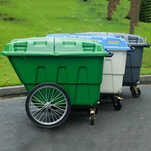 Outdoor Four Wheel Garbage Cart Image 1