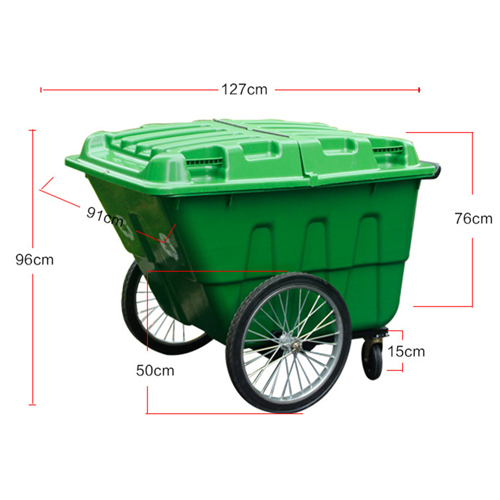 Outdoor Four Wheel Garbage Cart Image 29