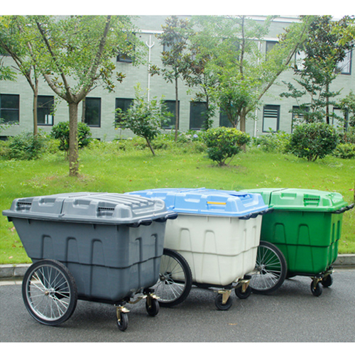Outdoor Four Wheel Garbage Cart Image 4