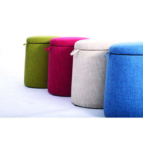 Round Fabric Storage Stool Image 12