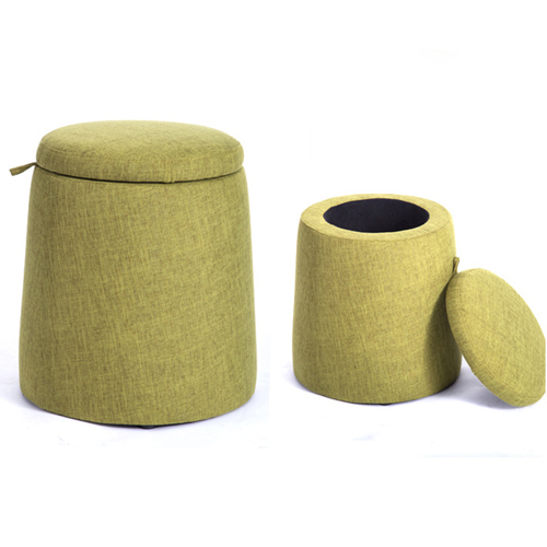 Round Fabric Storage Stool Image 13