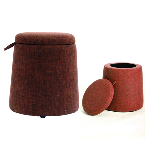 Round Fabric Storage Stool Image 15