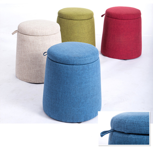 Round Fabric Storage Stool Image 18