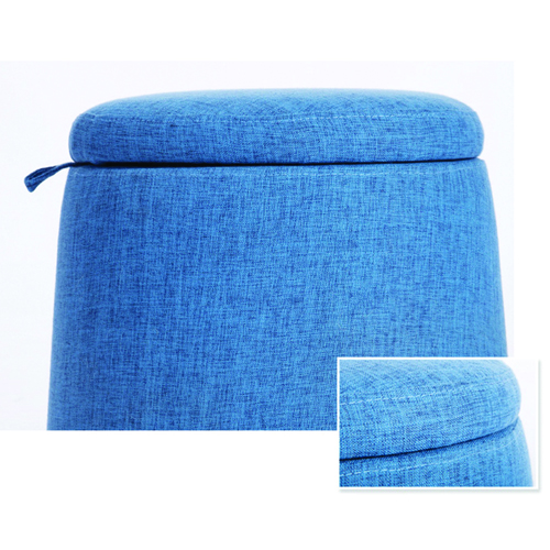 Round Fabric Storage Stool Image 20