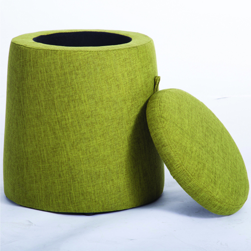 Round Fabric Storage Stool Image 3
