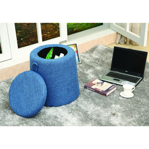 Round Fabric Storage Stool Image 8
