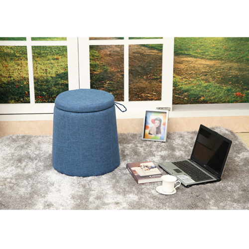 Round Fabric Storage Stool Image 9