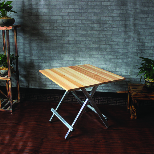 Square Wooden Folding Table Image 3