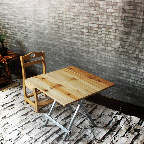 Square Wooden Folding Table Image 5
