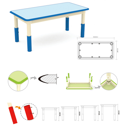 Nursery Adjustable Kids Table With Chairs Image 9