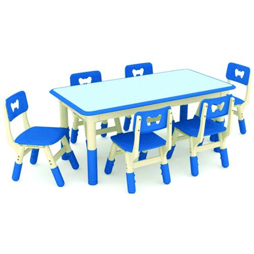 Nursery Adjustable Kids Table With Chairs
