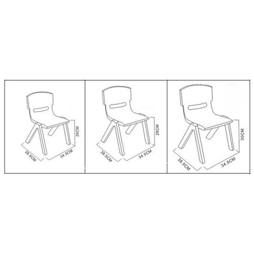 Cuisine Plastic Stackable Kids Chair Image 10