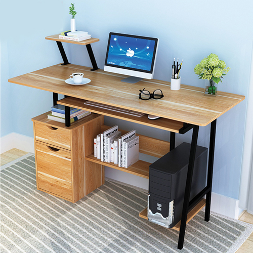 Simple Wooden Student Computer Desk Image 6