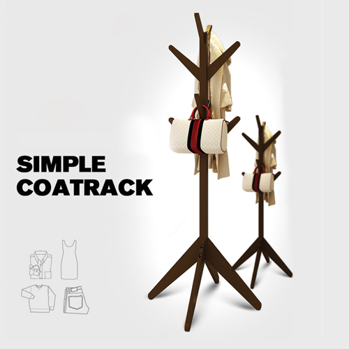 Creative Wooden Clothes Hanger Stand Image 9