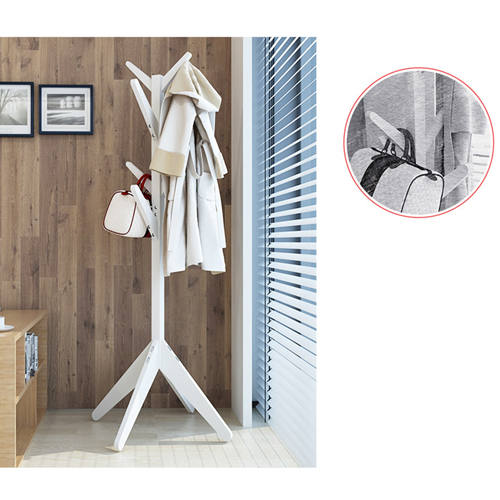Creative Wooden Clothes Hanger Stand Image 15