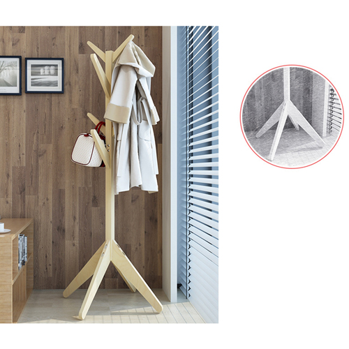 Creative Wooden Clothes Hanger Stand Image 17