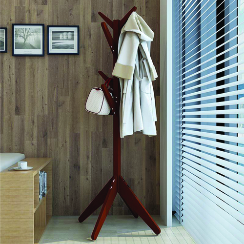 Creative Wooden Clothes Hanger Stand