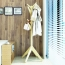Creative Wooden Clothes Hanger Stand Image 1