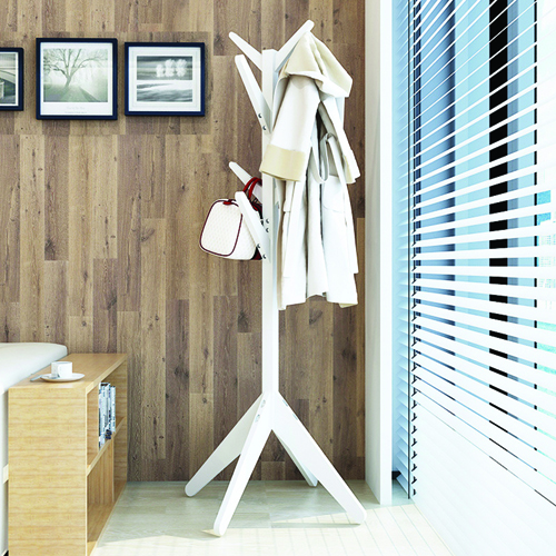 Creative Wooden Clothes Hanger Stand Image 3