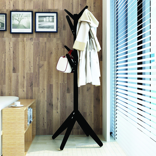 Creative Wooden Clothes Hanger Stand Image 5