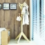 Creative Wooden Clothes Hanger Stand Image 7