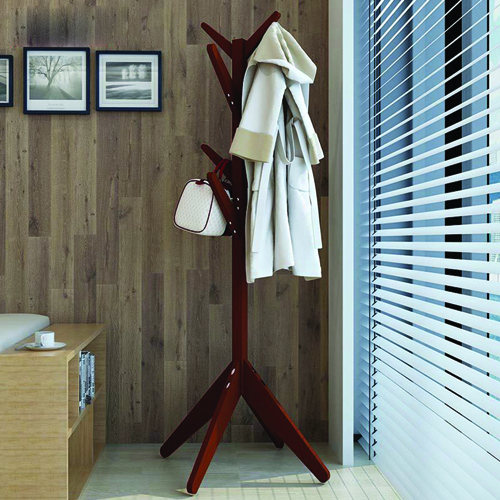 Creative Wooden Clothes Hanger Stand Image 8