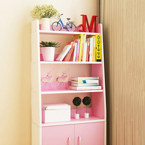Modern Wooden Bookshelf With Cabinet Image 14