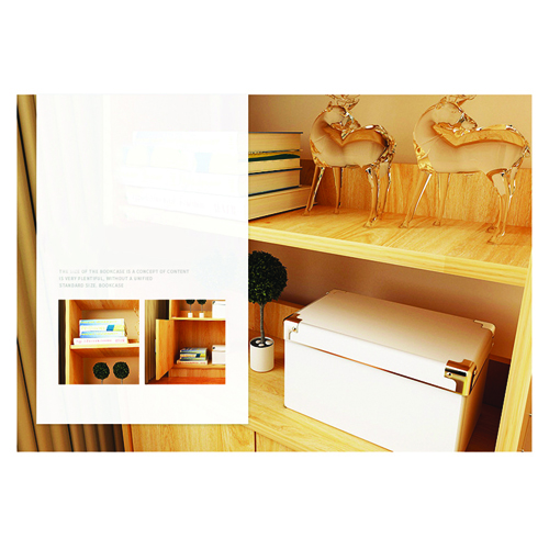 Modern Wooden Bookshelf With Cabinet Image 16