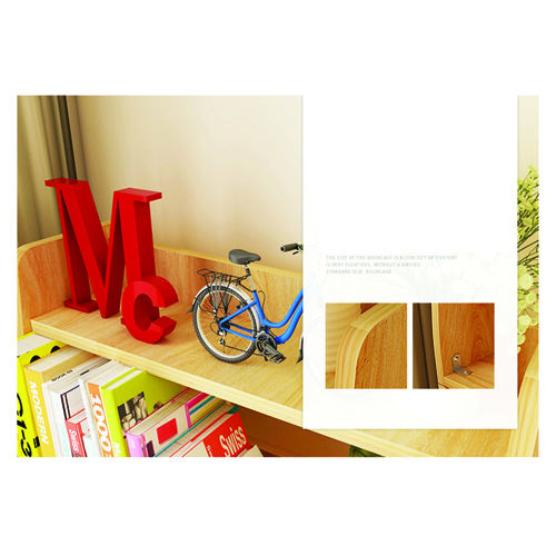 Modern Wooden Bookshelf With Cabinet Image 17