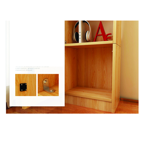 Modern Wooden Bookshelf With Cabinet Image 18