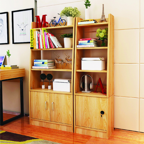 Modern Wooden Bookshelf With Cabinet