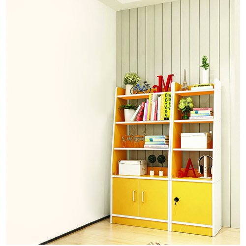Modern Wooden Bookshelf With Cabinet Image 5