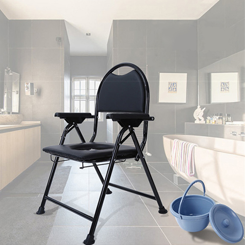 Cryo Stainless Steel Folded Toilet Chair Image 7
