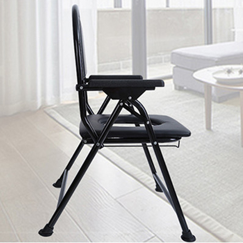 Cryo Stainless Steel Folded Toilet Chair Image 8