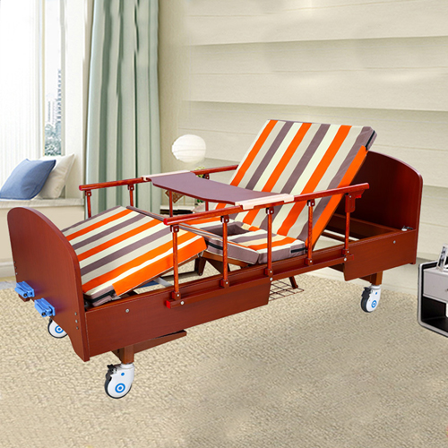 Multifunctional Wooden Nursing Hospital Bed Image 2