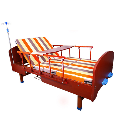 Multifunctional Wooden Nursing Hospital Bed Image 3